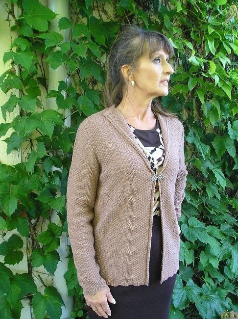 veste en v manches longues 3eme âge